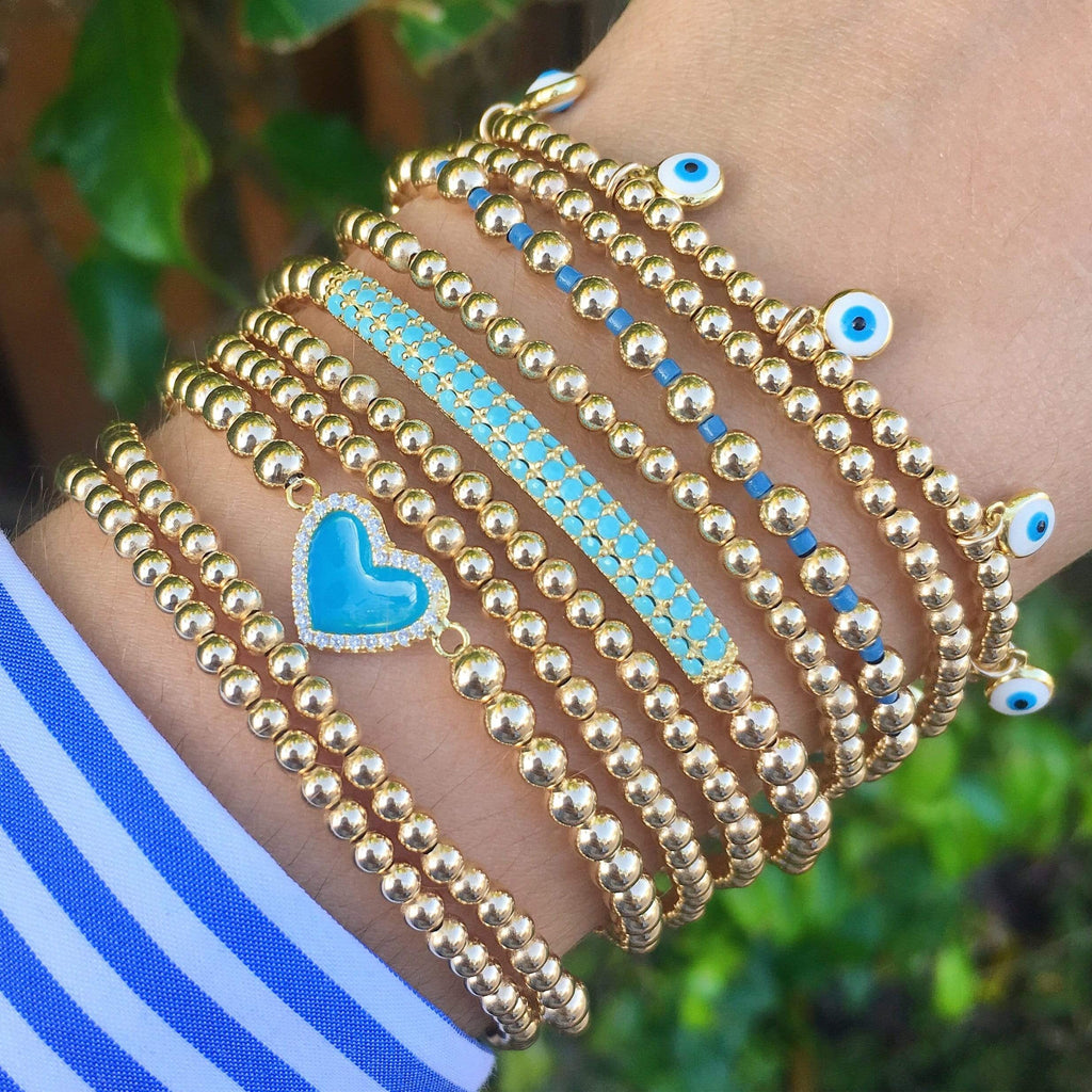 Raise the Bar | Turquoise Charm Bracelet