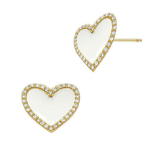 L.O.V.E. | White Stud Earrings