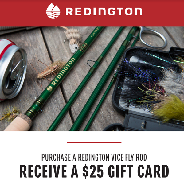 Redington Vice Rod Gift Card Special