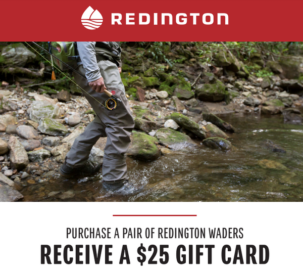 Redington Wader Gift Card Special 2017