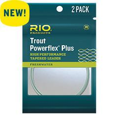 Rio Powerflex Plus Trout Leader 9' 2 Pack Leaders Fly Fishing