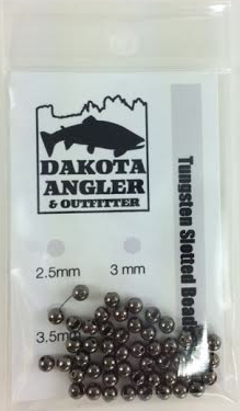 Dakota Angler and Outfitter Tungsten Slotted Beads 50 Pack