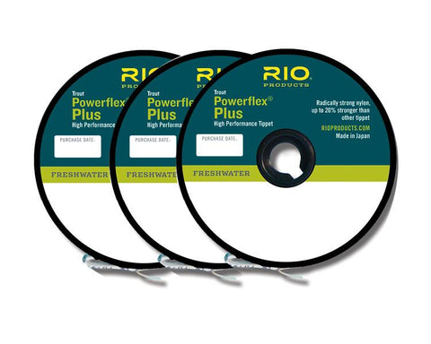 Rio Powerflex Tippet 3 pack Fly Fishing Trout