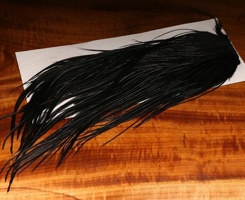 Hareline DOW Black Saddle #11 Fly Tying