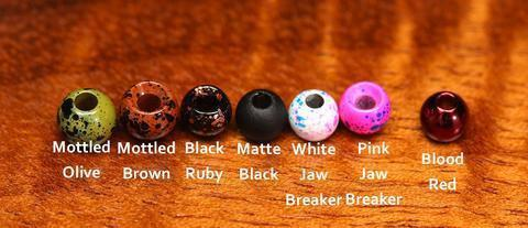 Hareline Plummeting Tungsten Beads Mottled Colors