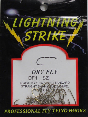Lightning Strike DF1 Dry Fly Hook 25 Pack
