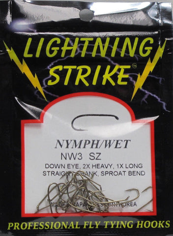 Lightning Strike NW3 Nymph Hook 25 Pack