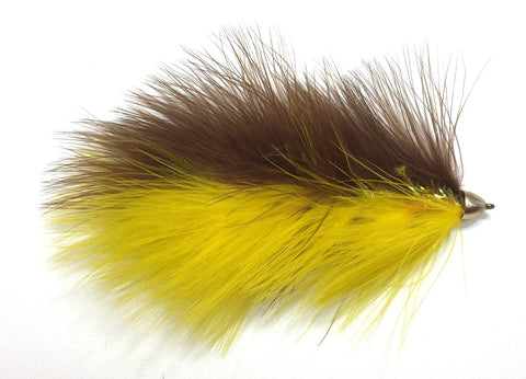 Galloup's Barely Legal Streamer Brown Yellow Size 6