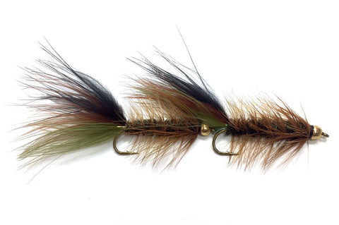 Tungsten Double Mint Streamer Thin Mint Bugger Leech Fly