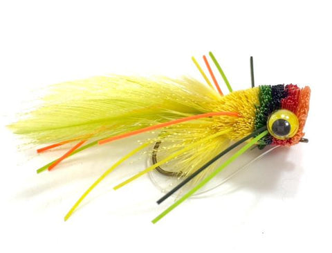 Fruit Cocktail Deer Hair Bug size 6