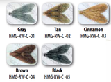 Hemingway Realistic Caddis Wing Assortment Colors