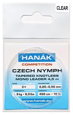 Hanak Czech Nymph Leader Clear 15'