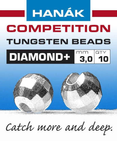 Hanak Diamond+ Slotted Tungsten Beads 20 pack