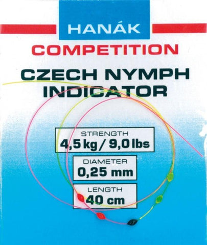 Hanak Czech Nymph BiColor Indicator (Drops), 16 in.