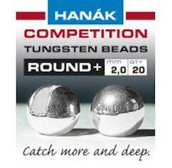 Hanak Round+ Slotted Tungsten Beads 20 pack