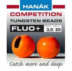Hanak Fluo+ Slotted Tungsten Beads 20 pack