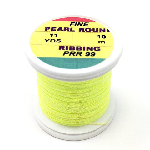 Hends Pearl Round Ribbing Tinsel- 11 Yard Spool