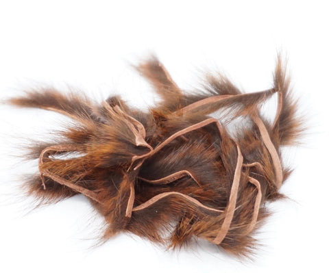 Fly Tying Rusty Brown Micro Squirrel Zonker Strips – Black Natural