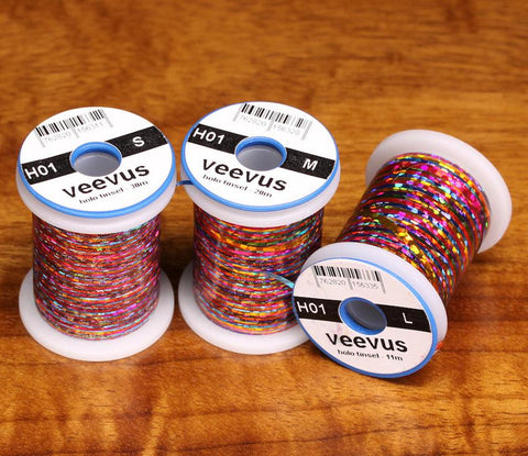 Veevus Holographic Tinsel Fly Tying Rainbow