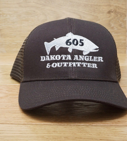 Simms High Crown Trucker 605 Fish Logo Hat