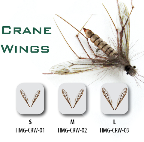 Hemingway's Crane Wings cranefly realistic wings fly tying
