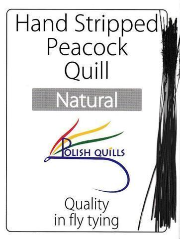Polish Quills stripped peacock quills fly tying quill body natural
