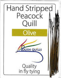 Polish Quills stripped peacock quills fly tying quill body olive