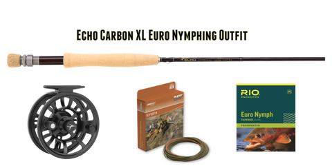 Echo Carbon XL Euro Nymphing Outfit 10' 3 weight Czech Nymph Rod