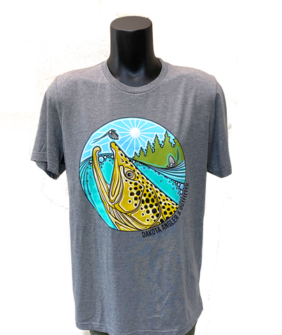 DAO Underwood Brown Trout Rise Logo T-Shirt