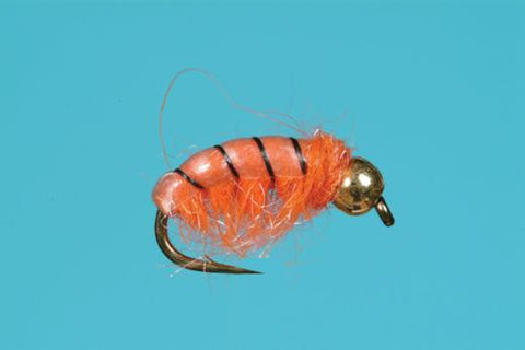 Czech Nymph Tungsten Bead Orange