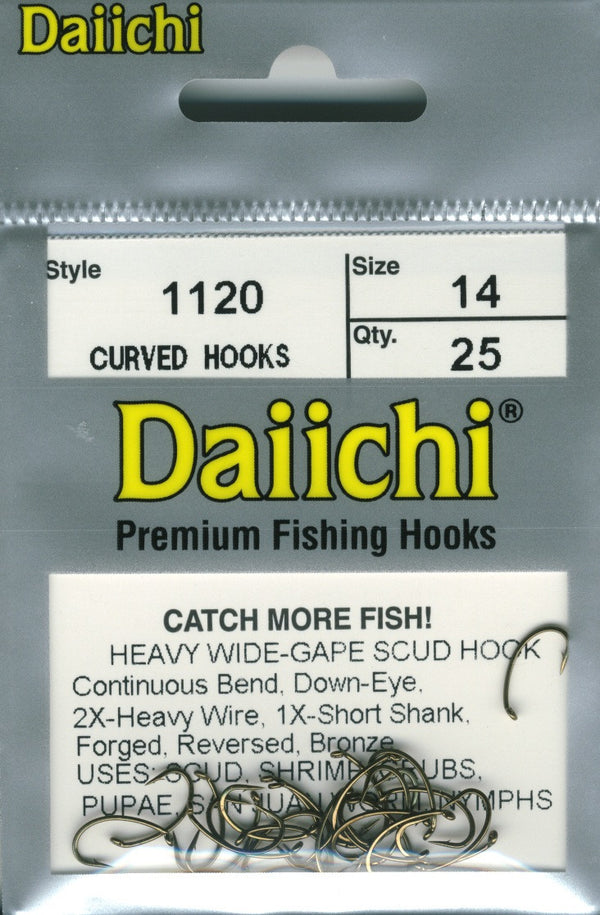 NEW DAIICHI 1270 MULTI USE CURVED HOOK #20 25 PACK fly fishing fly tying