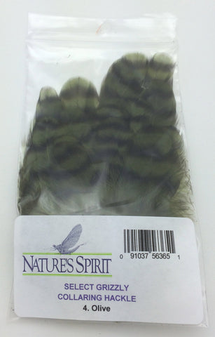 Nature's Spirit Grizzly Collaring Hackle