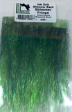 Ice Dub Minnow Back Shimmer Fringe Chartreuse Peacock Back