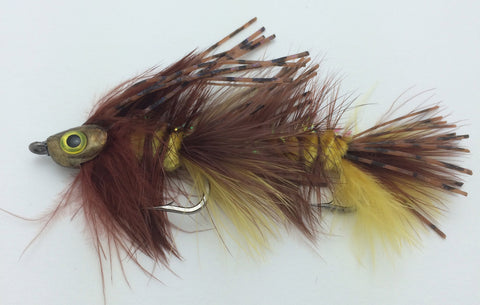 Jointed Urchin JJ Streamer Fish Skull Articulated Fly