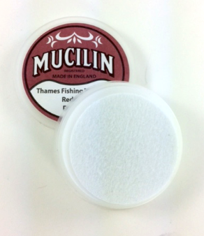 Mucilin Red Can Fly Fishing Line and Fly Floatant Paste Open
