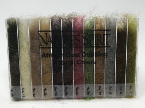 Nature's Spirit African Goat Dubbing Dispenser- 12 Natural Shades
