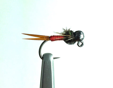 Tungsten Jig Red Copper John Nymph 14