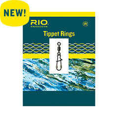 Rio Tippet Rings 2mm Black Nickel Trout Leader Fishing