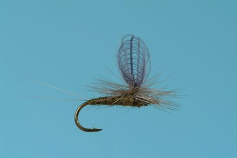 Solitude CDC Baetis Dun dry Fly trout blue winged olive