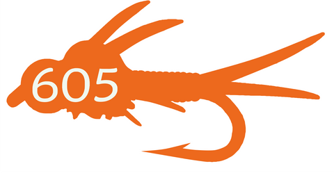 605 Fly Decal/Sticker Orange
