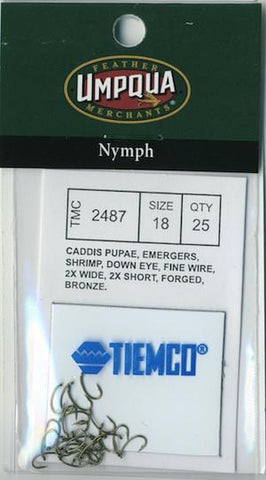 Tiemco 2487 Hook 25 Pack