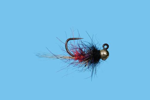 Tungsten Jig Red Butt Nymph Trout Fly