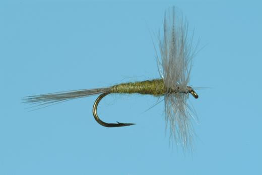 6 x Blue Wing Olive Klinkhammer Parachute Dry Fly Fishing Flies For Trout