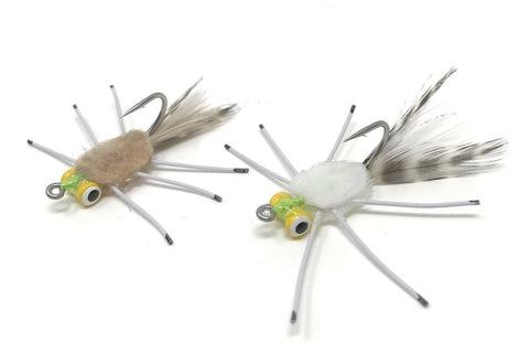 Dakota Angler Yellow Eye Permit Crab white tan
