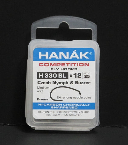 Hanak Hooks Model 330 Czech Nymph 25 Pack size 12