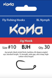 Kona BJH Jig Hook Barbless Hooks 30 Pack