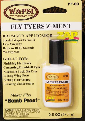 Fly Tyers Z-ment Wapsi Zap a Gap Super Glue Cement