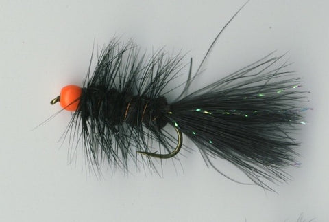 Hot Bead Bugger Black/Fl. Orange Size 10