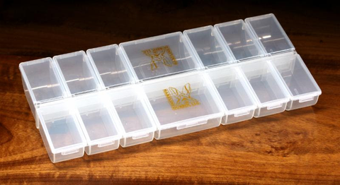 Hareline 12 Small and 2 Large Individual Compartment Box