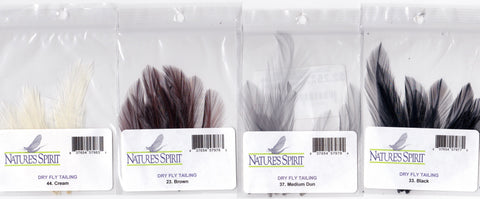 Nature's Spirit Dry Fly Tailing Hackle